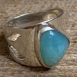 Jay King DTR 925 Sterling Blue Gem Silica Ring